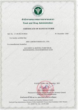 Certificate OF Manufacturer (Food and Drug Administration)