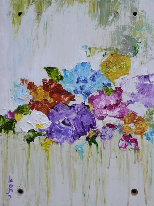 A Bouquet of Flowers Painting - Flower Bouquet
