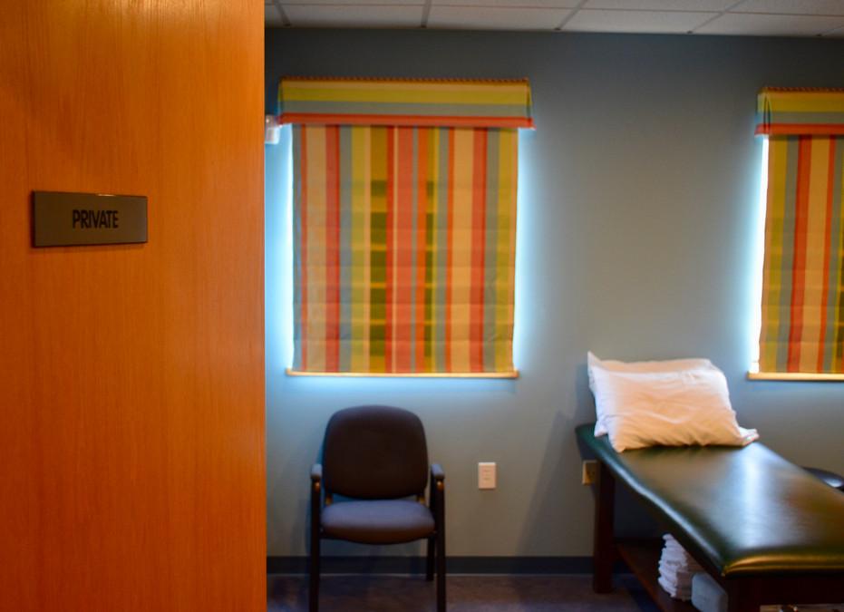 Private treatment room