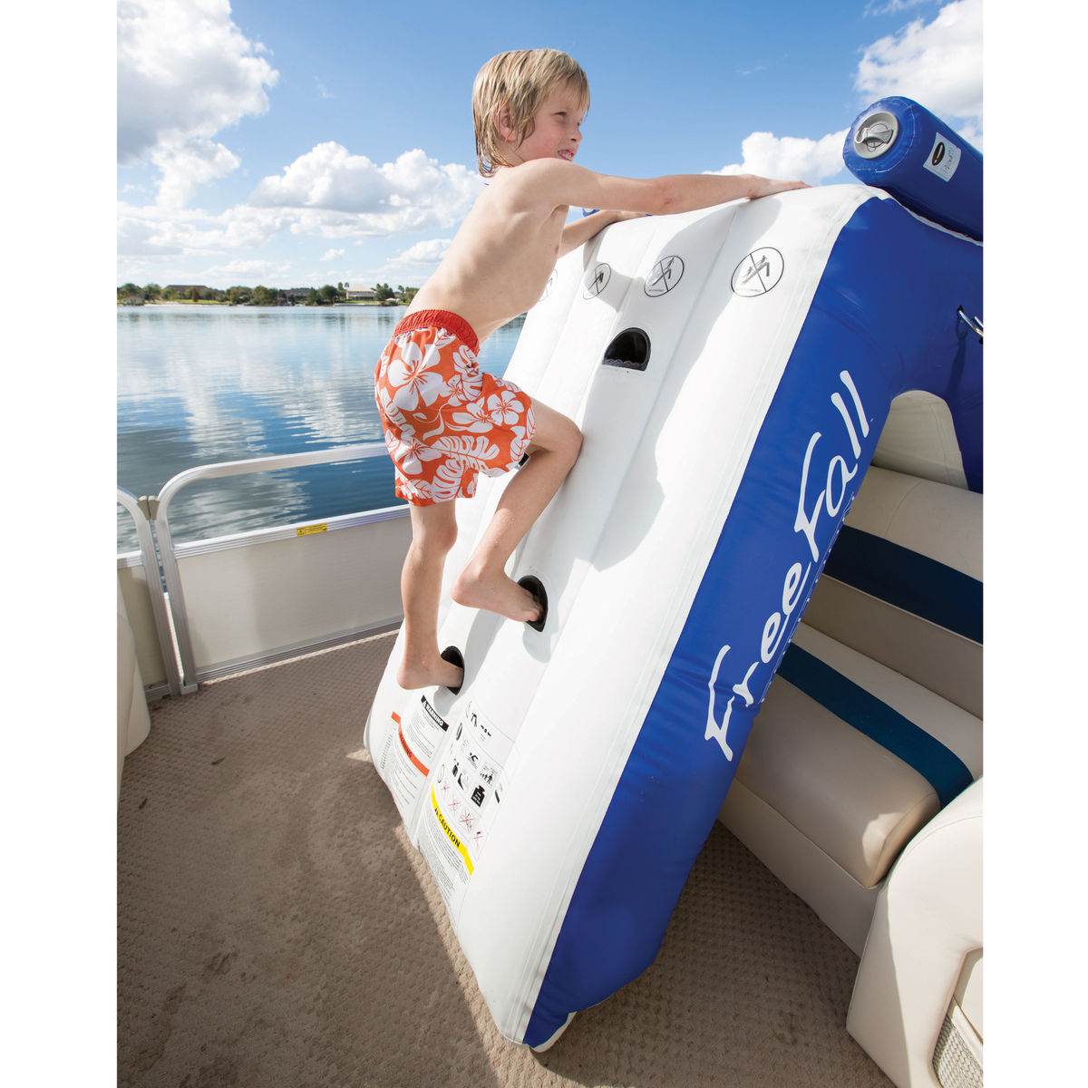 Pontoon Inflatable Slide
