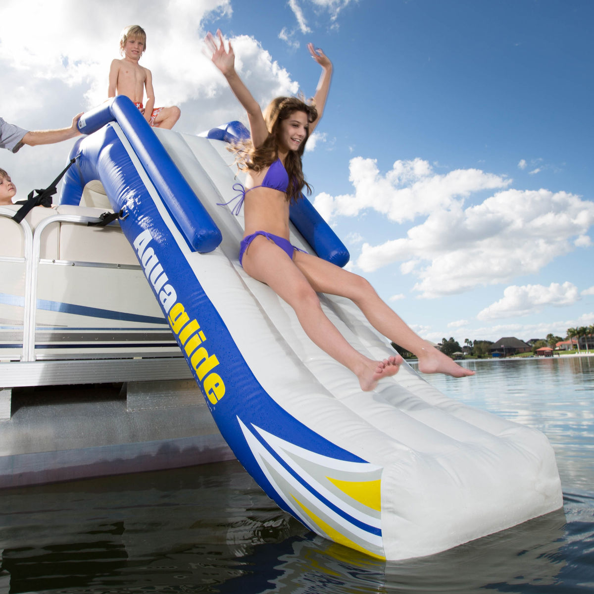 Pontoon Inflatable Water Slide