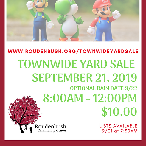 Fall '19 Town-Wide Yard Sale