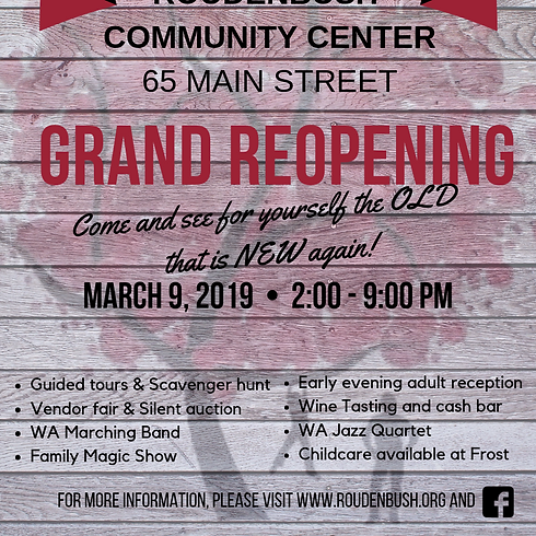 Grand Reopening Celebrations
