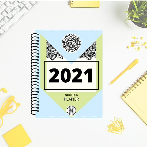 NOUTBUK PLANER 2021 -zelen