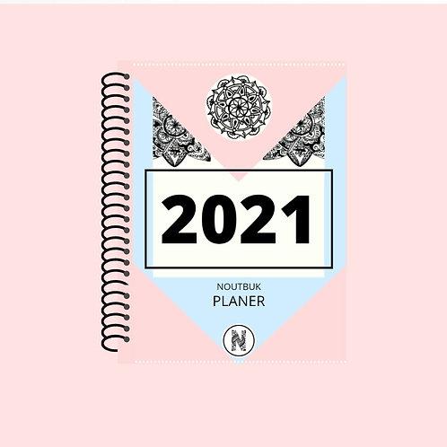 NOUTBUK PLANER 2021 - roza