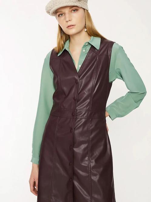 Attic & Barn brass  leatherette dress
