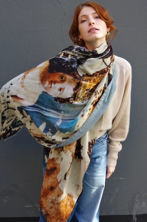 Talking walls Carmelo jeans sjaal