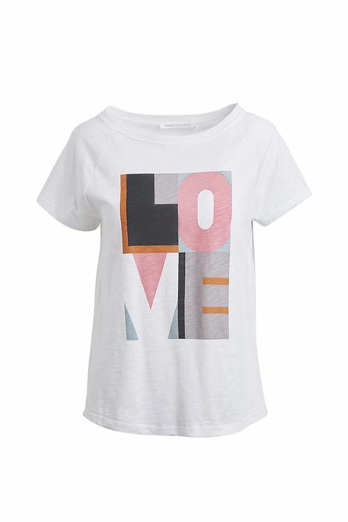 Rabens Sally Love block print T-shirt