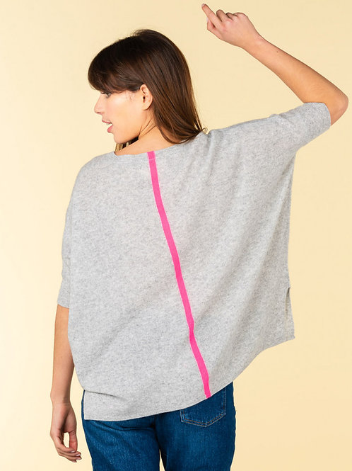 Absolute Cashmere Ingrid V-neck ribbed sleeves poncho