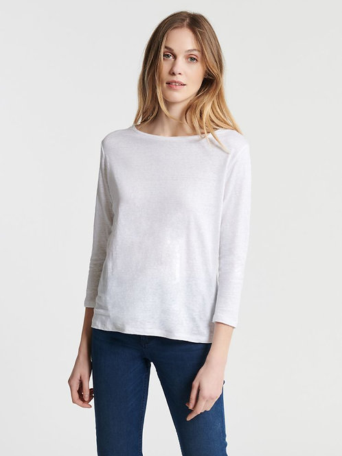 Majestic 3/4 sleeve boat neck T-shirt