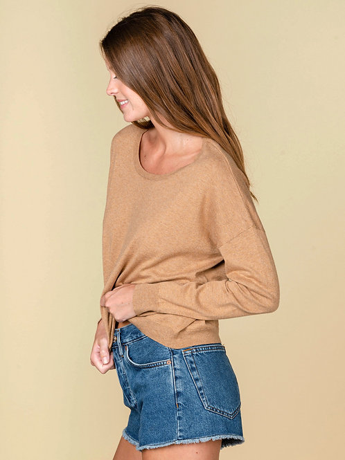 Absolute cashmere Sophie roundneck sweater with multico buttons