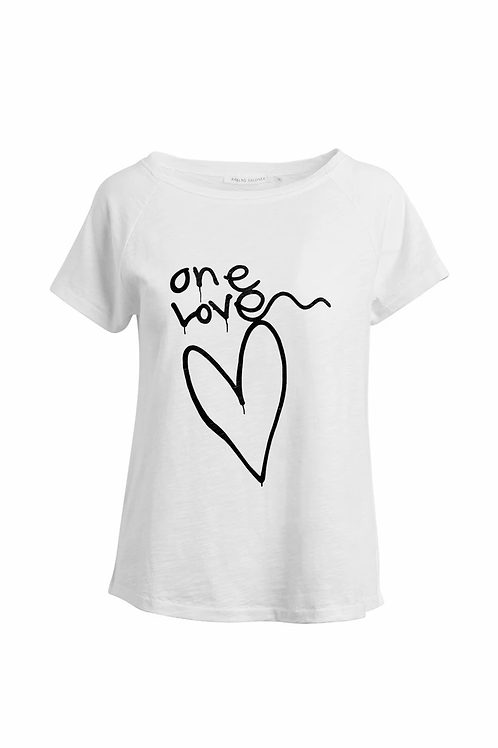 rabens Sally One love print T-shirt