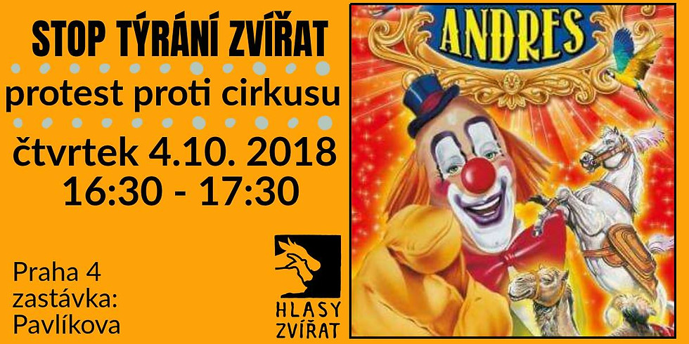 Protest proti  cirkusu Andres