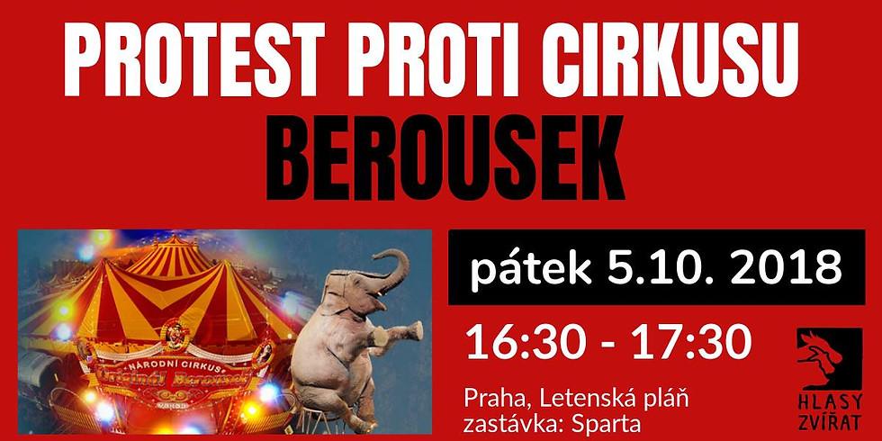 Protest proti cirkusu Berousek