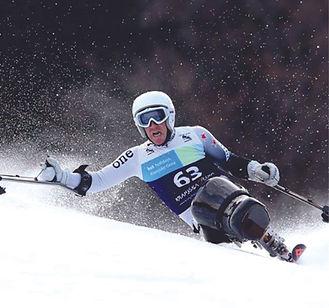 Paralympian+Corey+Peters+Ski+Racing