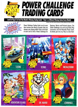 Nintendo Power Challenge Trading Cards