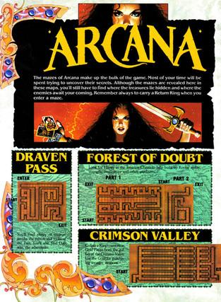 Arcana Stage Maps