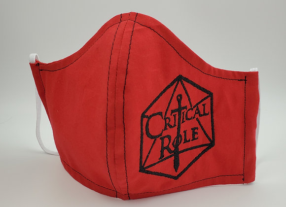 CR Dungeons and Dragons Face Mask