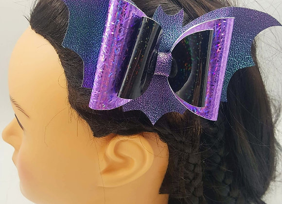 Shiney Bat Bow hair clip