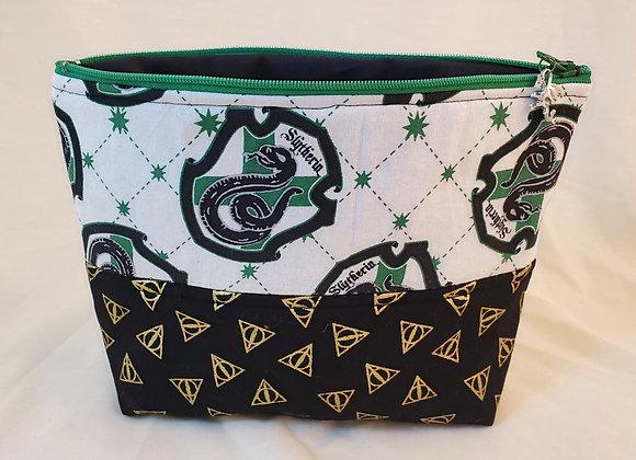 Slytherin zipper bag