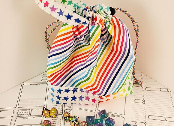 🌈 Rainbow Cinch Dice Bag