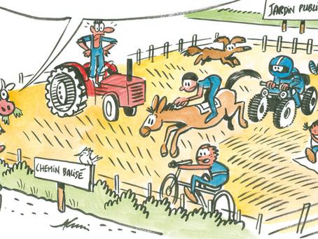 Sensibilisation pour le respect du travail des agriculteur.rices
