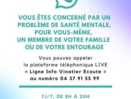 La plateforme téléphonique du Centre Hospitalier Le Vinatier