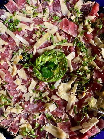 Tuna Carpaccio w/truffle & parmesan