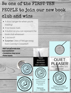 Be one of the first TEN PEOPLE to join our new book club and win_