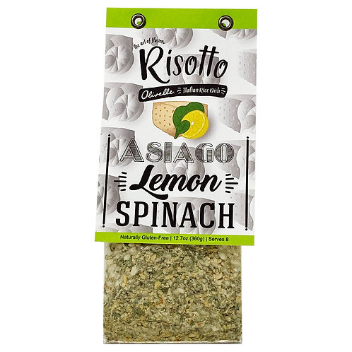 Asiago Lemon Spinach Risotto