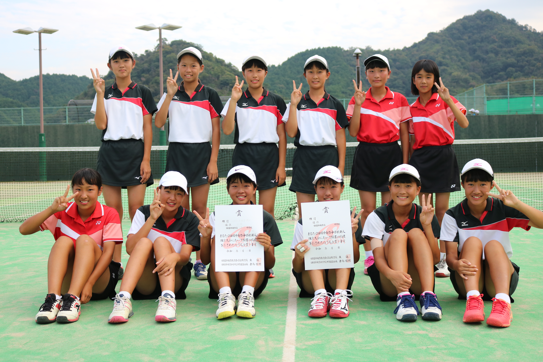 ソフトテニス女子準優勝_三島西