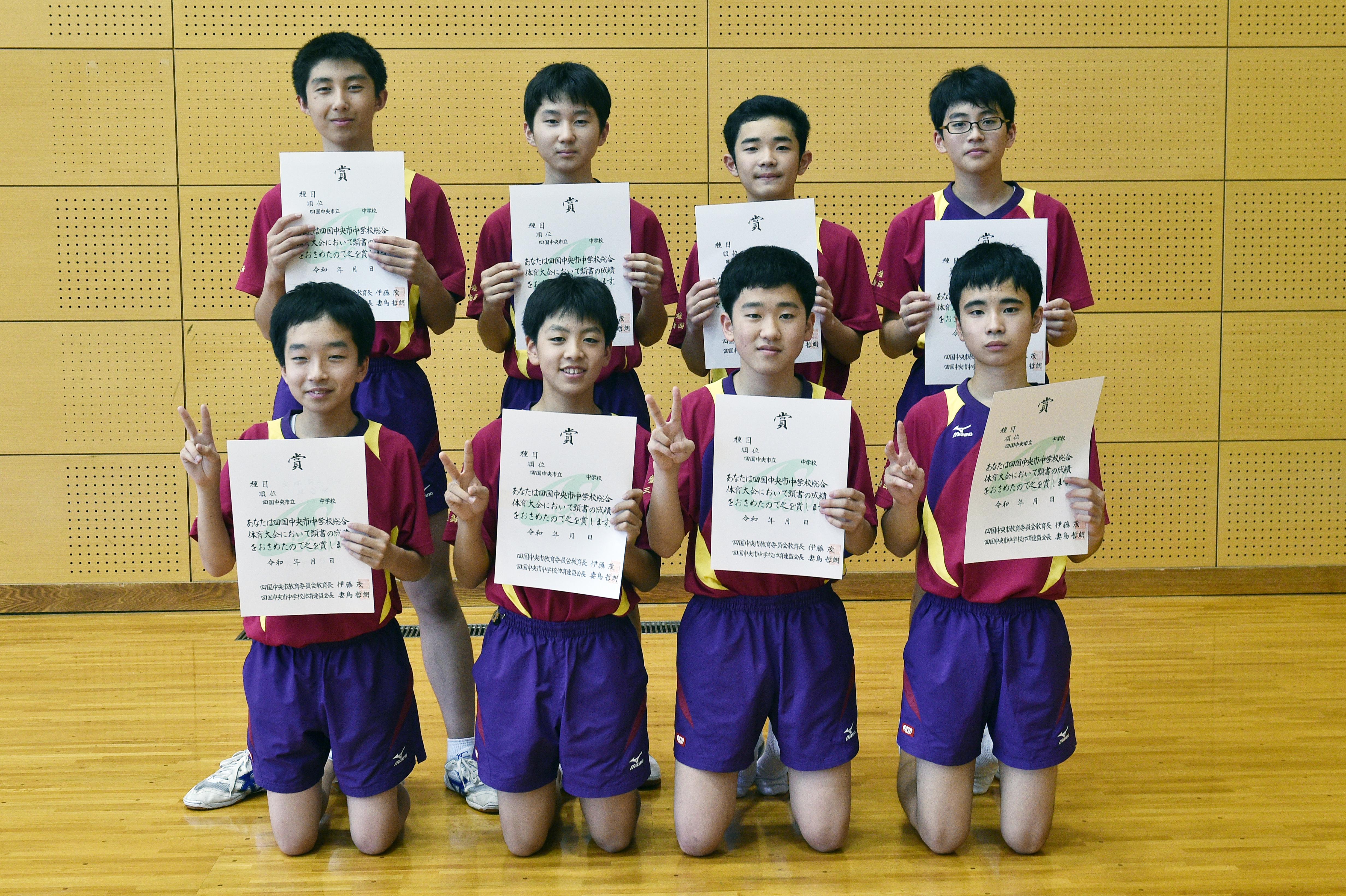 卓球男子_準優勝_三島西