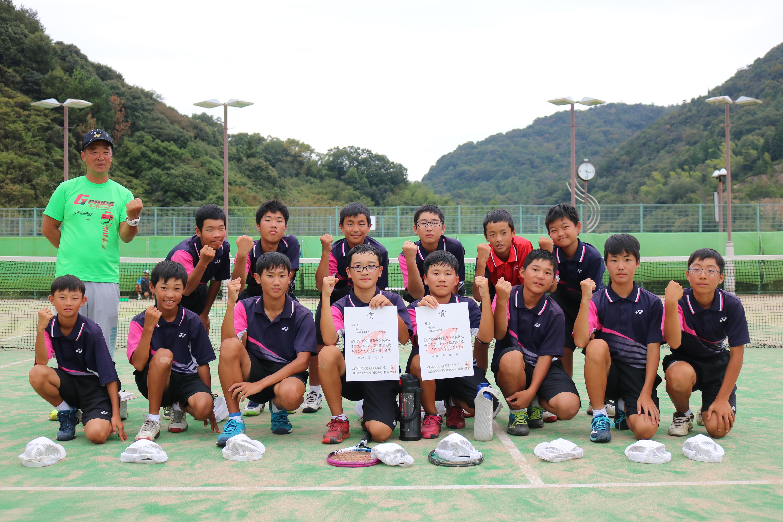 ソフトテニス男子準優勝_三島南