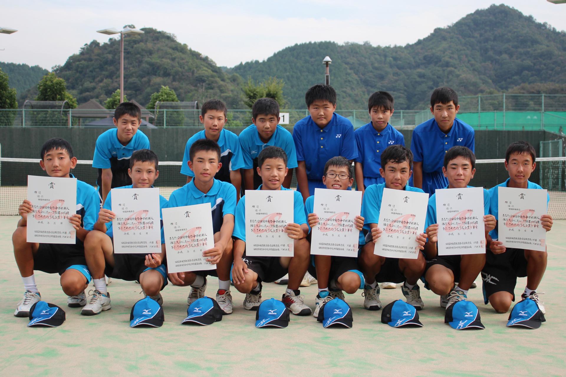 ソフトテニス男子_準優勝_三島東