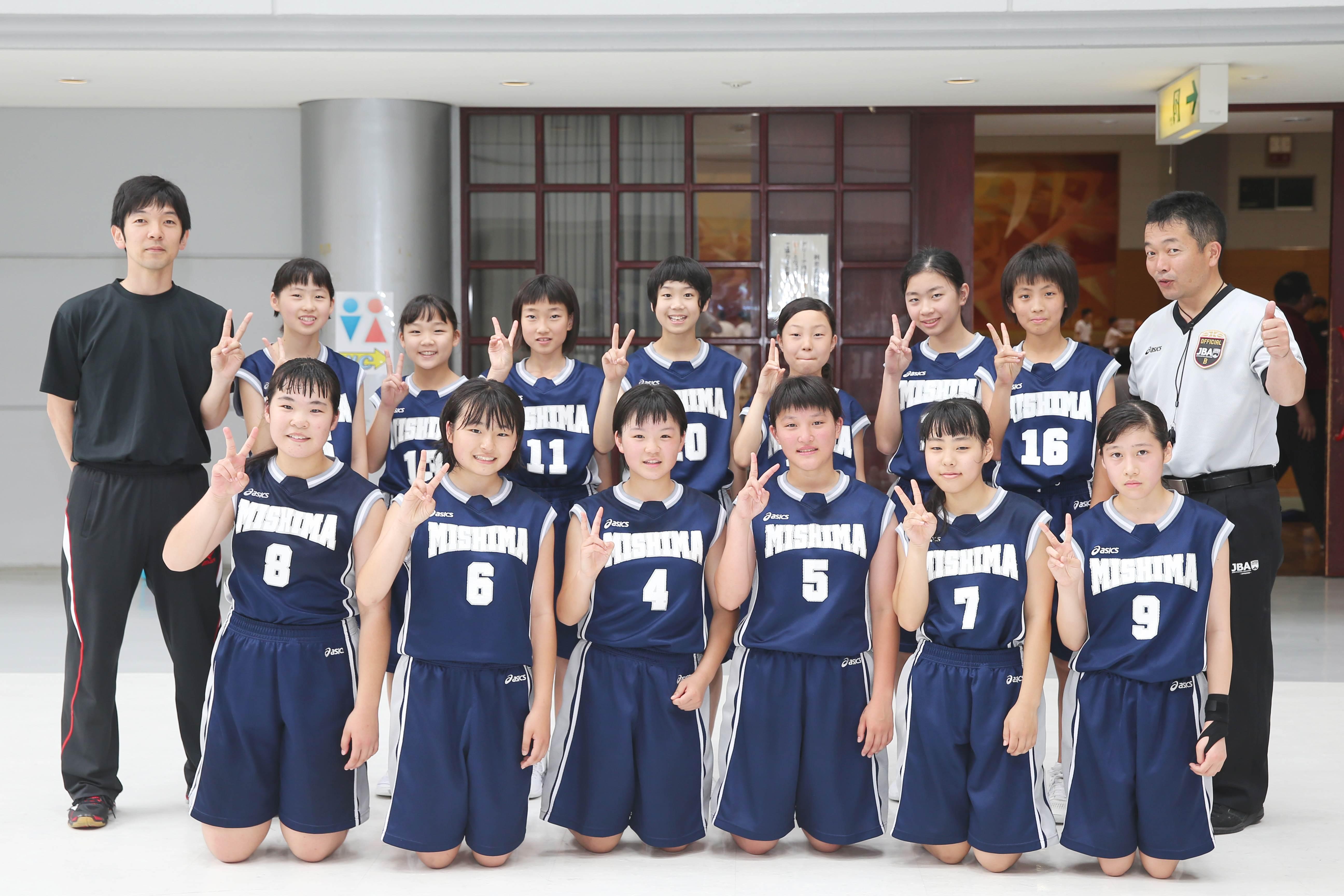 バスケットボール女子_集合_三島東