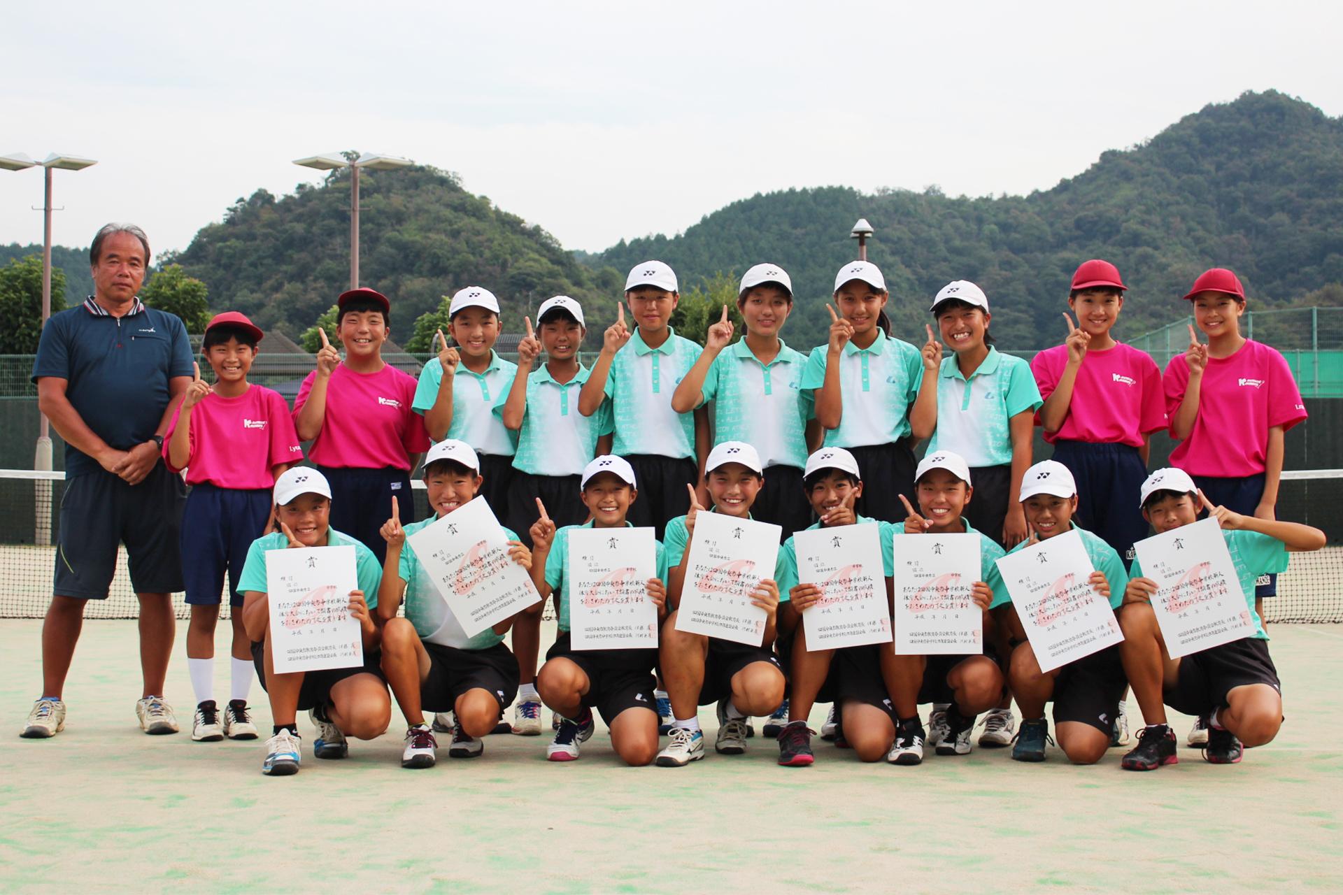 ソフトテニス女子_優勝_川之江南