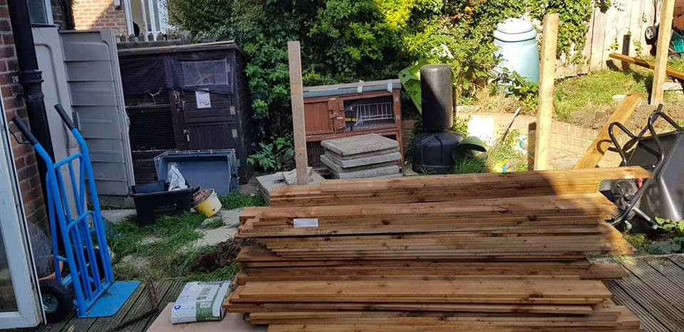 Wood for fencing