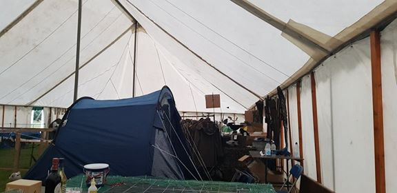 Tent in the marquee