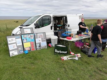 The team working at the Car Boot Sale