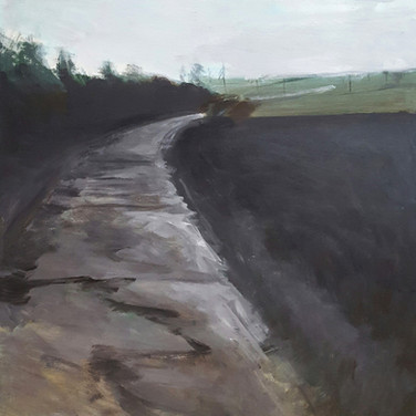 Washed road