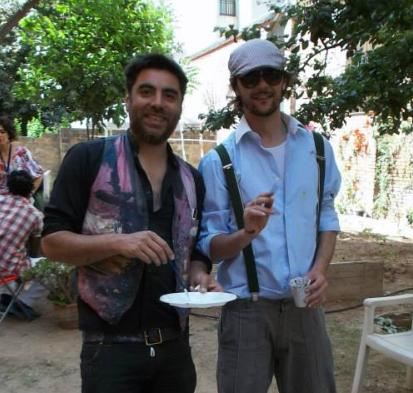 con el artista Yuri Pezkhamino