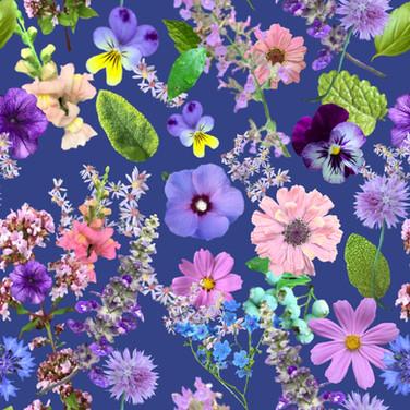 Loose Flower Cuttings in Blue