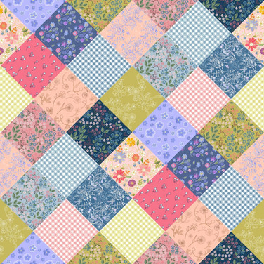 Bohemian Patchwork Diamond Quilt
