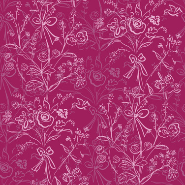 Modern Chintz in Raspberry