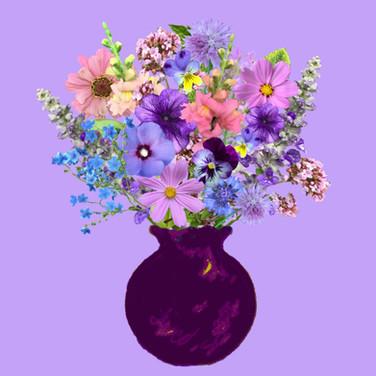Purple Vase Lavender Bouquet