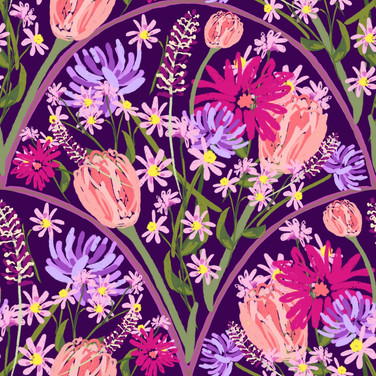 Wildflower Scallops in Violet