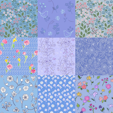 Something Blue Patchwork Quilt