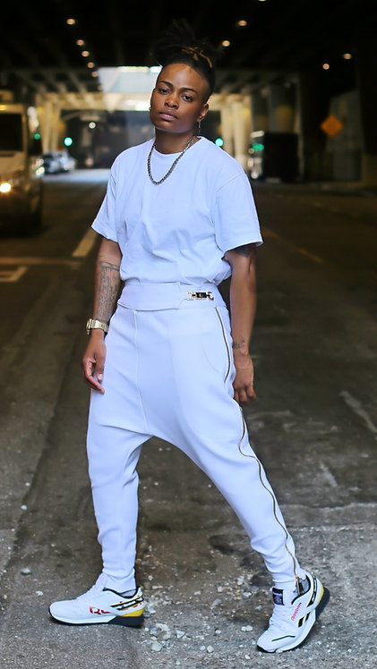 White Royal Droppers pants