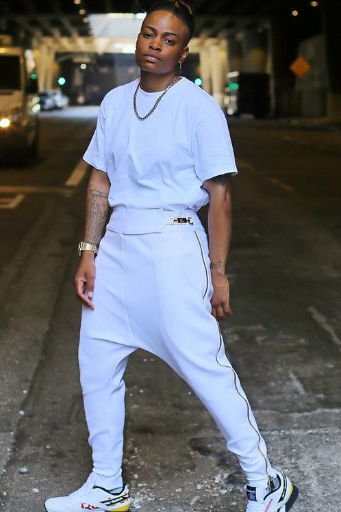 White Royal Droppers pants