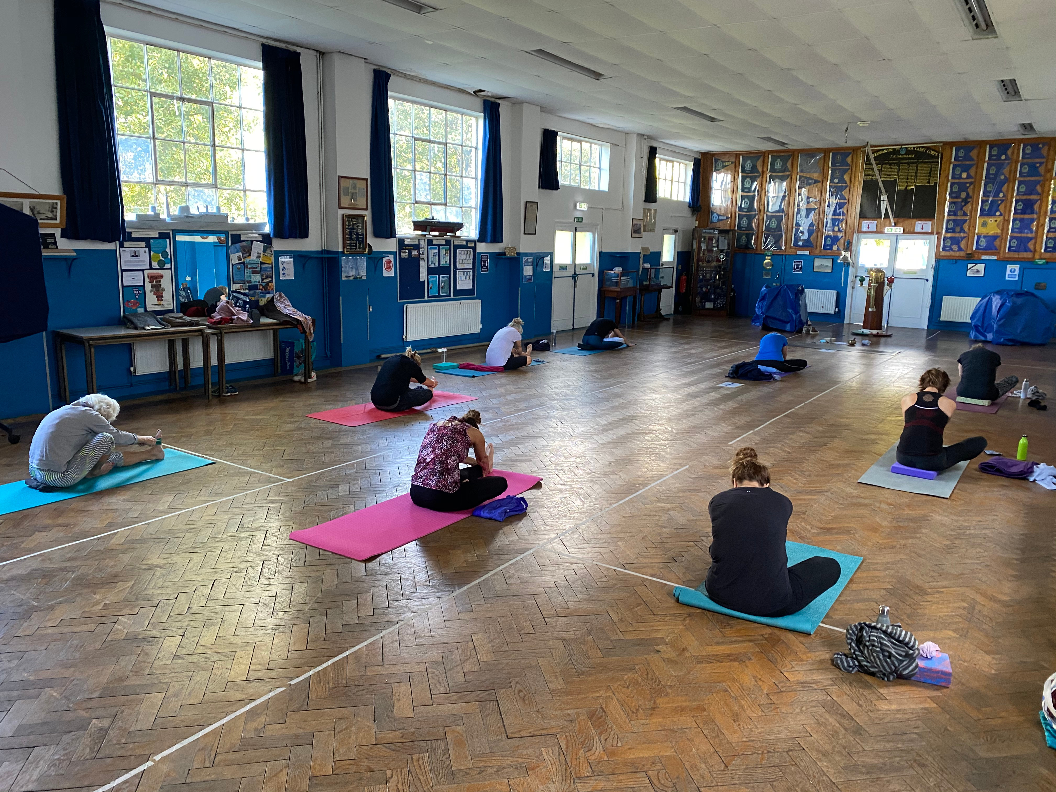 Monday Yoga in the Hall 9.30-10.45am